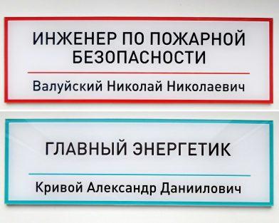 Индивидуальные таблички из акрила