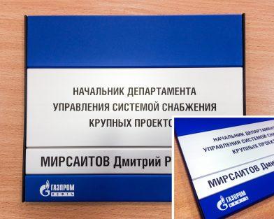 Табличка из металлического профиля