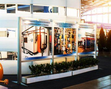 Завод СиН-ГАЗ - стенд на выставке_алюминиевый профиль, прожектора